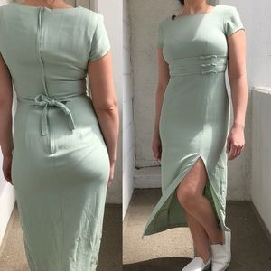 EUC green prom style vintage dress